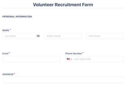 Volunteer Recruitment Form